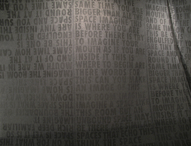 Mouth (2012) a room sewn from printed interfacing fabric